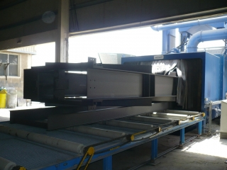 Construction Rollerconveyor Blastingmachine